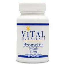 Vital Nutrients- Bromelain 375mg (60 caps)
